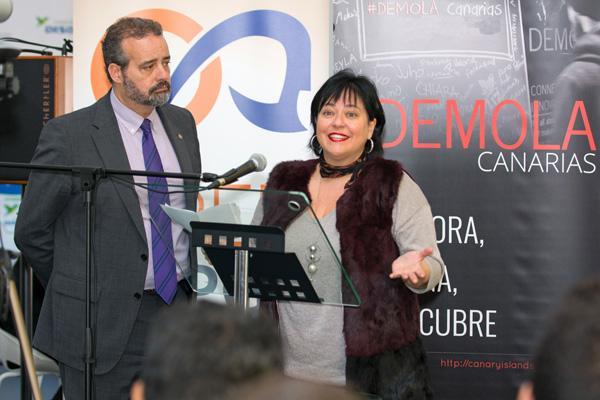 Rosa Batista y Rafael Robaina en la VII edición de Demola Canarias