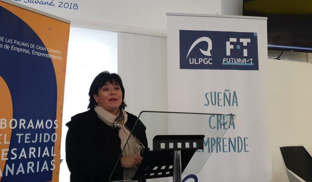 Rosa Batista en la presentación del programa Explorer
