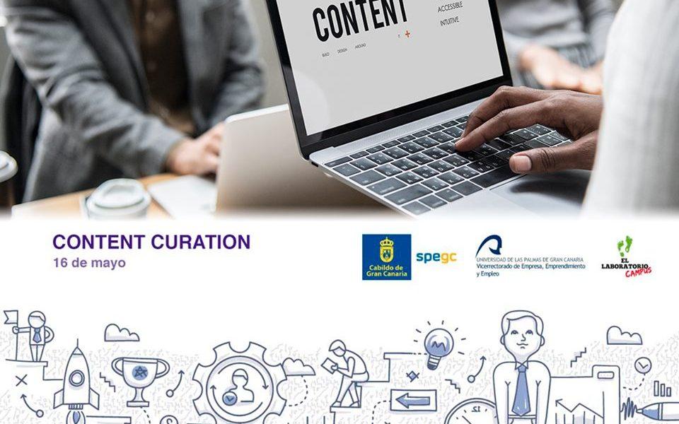 Cartel del taller Content Curation