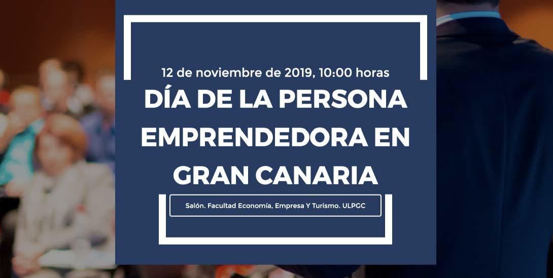 Cartel Día de la Persona Emprendedora en Gran Canaria 2019