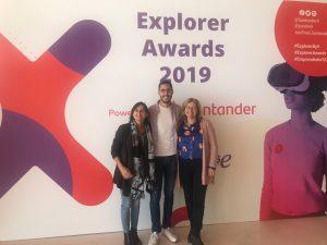 Néstor, Pino y Mertxe en los Explorer Awards 2019