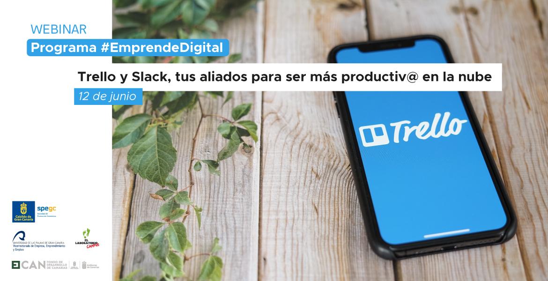 """Webinar sobre """"Productividad en la nube con Trello y Slack"""""""