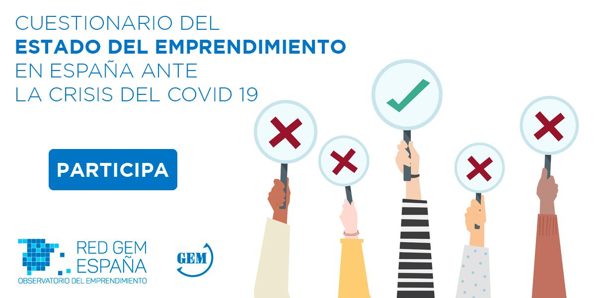 Cartela Cuestionario del Estado del Emprendimiento en España COVID 19