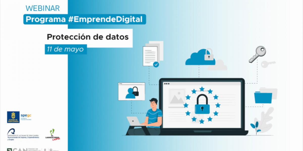Cartela del webinar Protección de datos