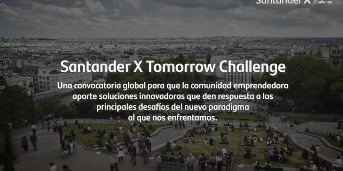 Cartela del programa Santander X Tomorrow Challenge
