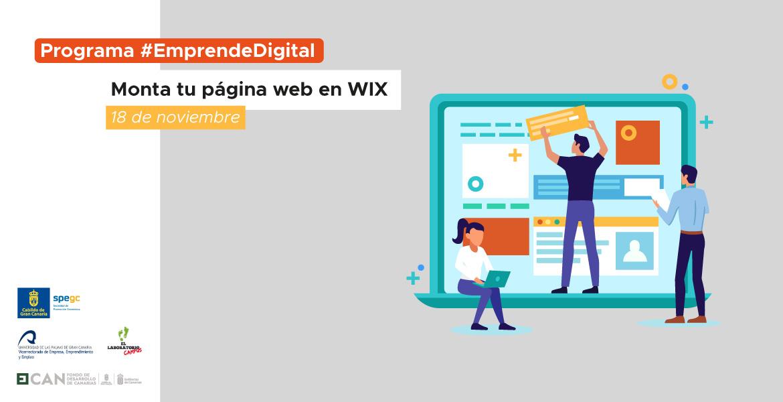 Programa #EmprendeDigital: ¡A por una página web con WIX!