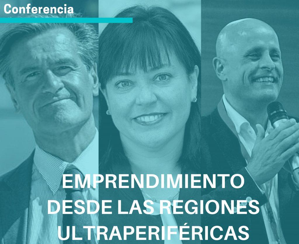Cartel de la conferencia «Emprendimiento desde las regiones ultraperiféricas»